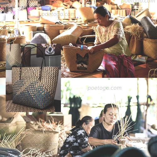 หัตถกรรมกระจูดวรรณี5 - หัตถกรรมกระจูดวรรณี แหล่งซื้อขายของฝากท้องถิ่น ของชาวจังหวัดพัทลุง
